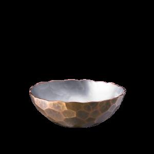 Low-shaped Sake cup<br>Large hammered pattern<br>Gold color (60ml)