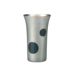 Beer cup<br>Light silver with deep blue dots (250ml)