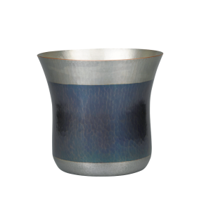 Wine cooler<br>Open cylindrical<br>Deep-blue and silver color bottom<br> (for 1 bottle)