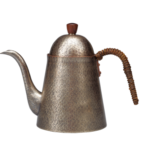 Coffee kettle<br>Textured hammered pattern<br>Smoky silver (900ml)