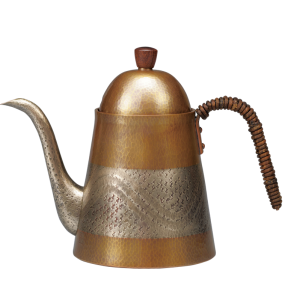 Coffee kettle<br>Two-tone and metallic wave (900ml)