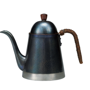 Coffee kettle<br>Hammered-mosaic finish<br>Bluish-purple and silver color bottom (900ml)