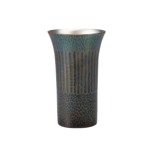 Beer cup<br>Vertical stripes<br>Bluish-purple (250ml)