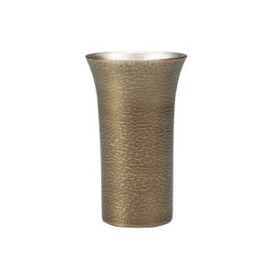 Beer cup<br>Blade hammered pattern<br>Dark silver (250ml)
