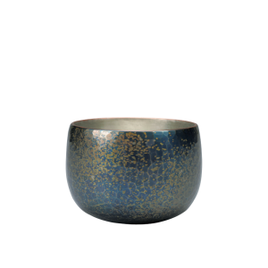 Sake cup<br>Deep-blue with scattered<br>gold color (60ml)