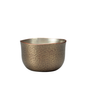 Sake cup<br>Blade hammered pattern<br>Dark silver (60ml)