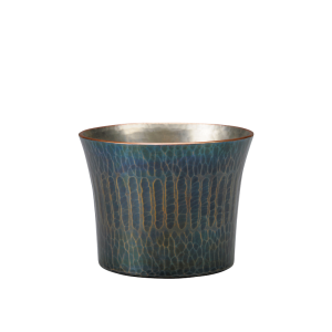 Sake cup<br>Vertical stripes<br>Bluish-purple (60ml)